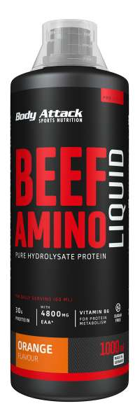 Body Attack Beef Amino Liquid, 1000ml