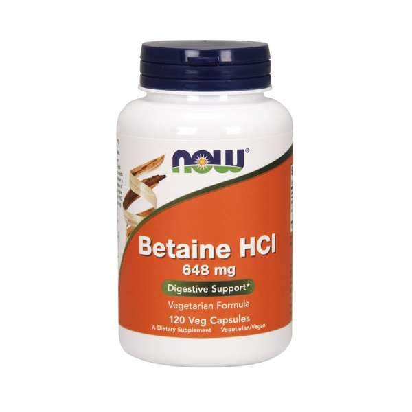 NOW Betaine HCL 648mg, 120 Kapseln
