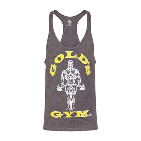 Golds Gym Classic Stringer Tank Top Grey Marl