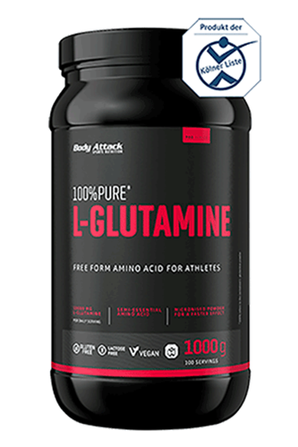 Body Attack 100% Pure L-Glutamine, 1000g