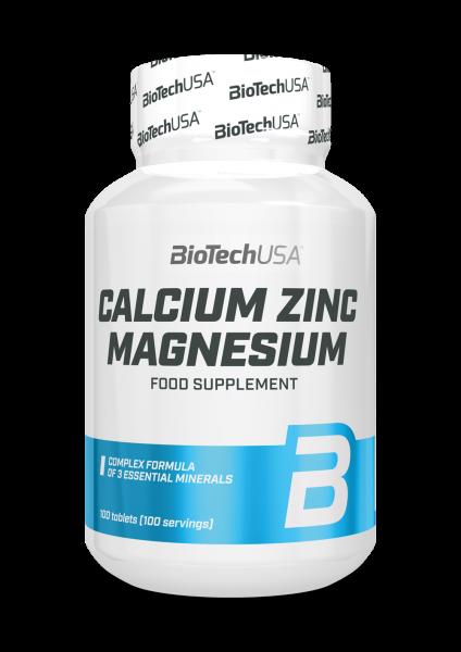 Biotech USA Calcium Zinc Magnesium, 100 Tabletten