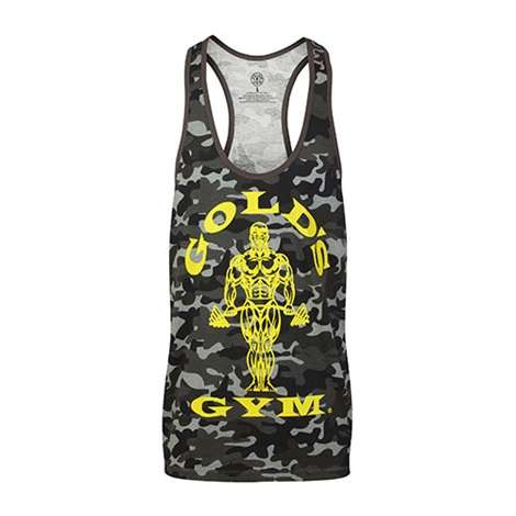 Golds Gym Classic Stringer Tank Top Camo Black