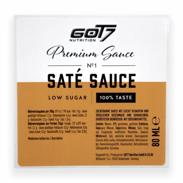Got7 Nutrition Premium Sauce Saté Sauce, 80ml