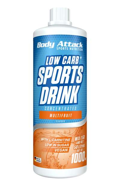 Body Attack Low Carb Sports Drink, 1000ml MHD 31.01.22
