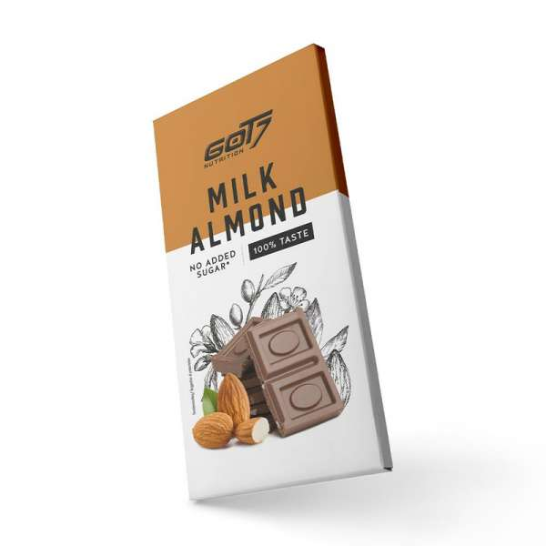 Got7 Nutrition Chocolate Bar Almonds, 75g