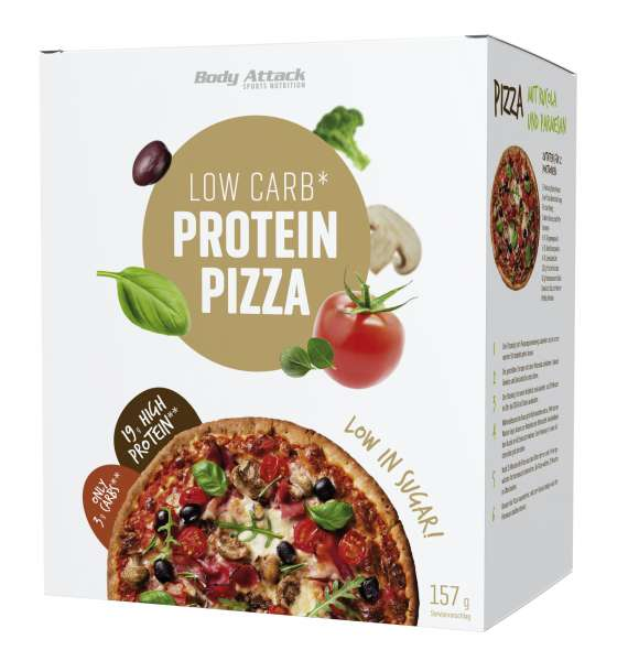 Body Attack Low Carb (kohlenhydratreduziert) Pizza, 157g