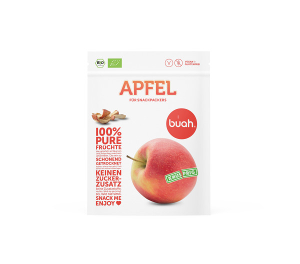 buah Getrockneter Bio Apfel, 20g