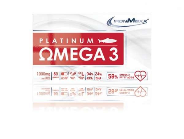 IronMaxx Platinum Omega 3, 60 Kapseln