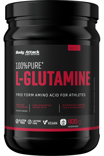 Body Attack 100% L-Glutamine, 400g