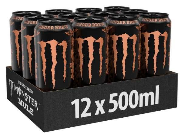 Monster Mule Ginger Brew Zero Sugar, 12 x 500 ml