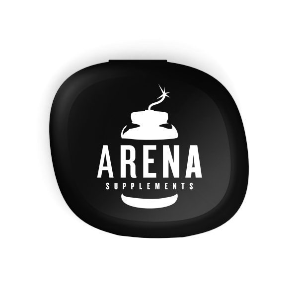Arena Supplements Pillbox Schwarz, 1 Stück