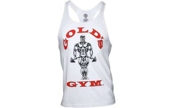 Golds Gym Classic Stringer Tank Top White