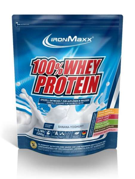 IronMaxx 100% Whey Protein, 2350g MHD 31.01.22