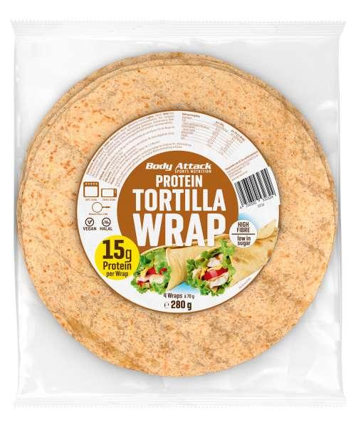 Body Attack Protein Tortilla Wraps, 280g