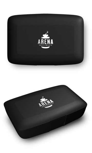 Arena Supplements Pillenbox Schwarz, 1 Stück