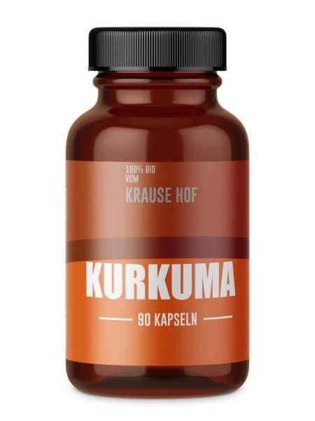 Krause Hof 100% BIO Kurkuma, 90 Kapseln