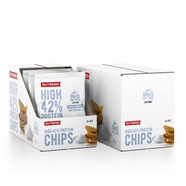 Nutrend High Protein Chips Karton 6 x 40g, 240g