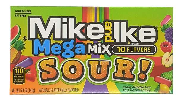 Mike and Ike Sour Mega Mix, 141g