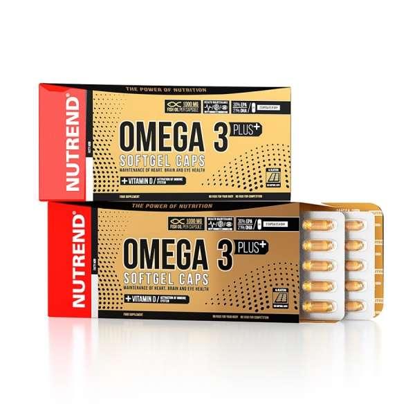 Nutrend Omega 3 Plus Softgel, 120 Kapseln
