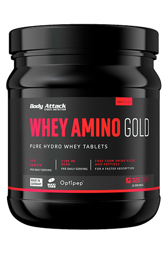 Body Attack Whey Amino Gold, 325 Tabletten