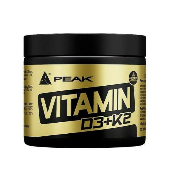 Peak Performance Vitamin D3 + K2, 120 Tabletten