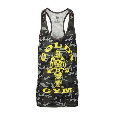 Golds Gym Classic Stringer Tank Top Camo Black