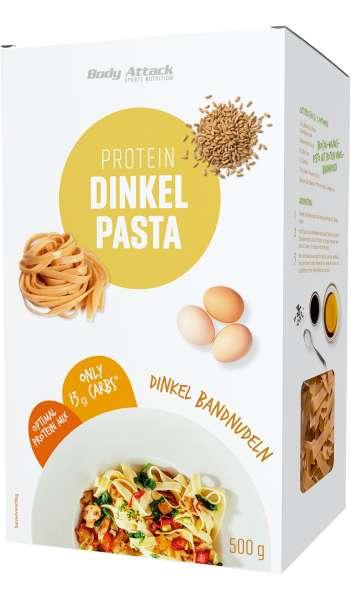Body Attack Protein Dinkel Pasta Bandnudeln, 500g