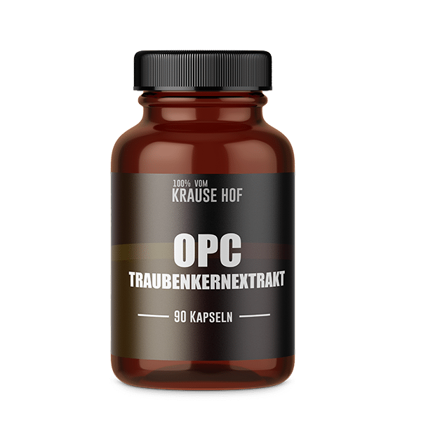 Krause Hof – Traubenkernextrakt 95% OPC – 90 Kapseln á 500mg, 90 Kapseln