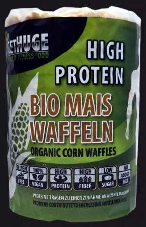 GET HUGE Bio Protein Mais Waffeln, 100g