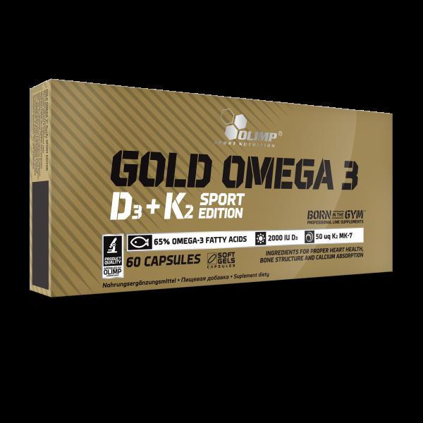 Olimp Gold Omega 3 D3 + K2 Sport Edition, 60 Kapseln