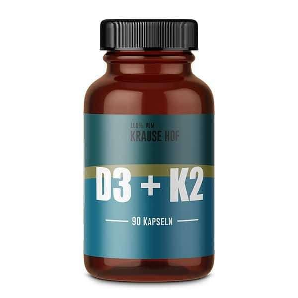 Krause Hof Vitamin D3 + K2, 90 Kapseln