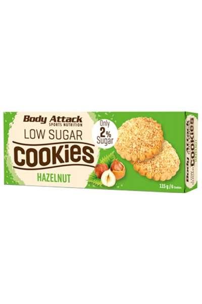Body Attack Low Sugar Cookies, 115g