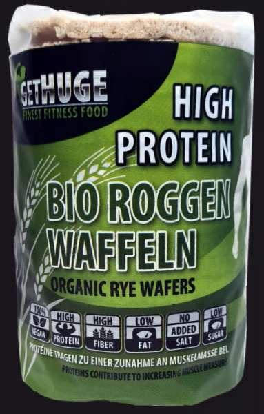 GET HUGE Bio Protein Roggen Waffeln, 100g