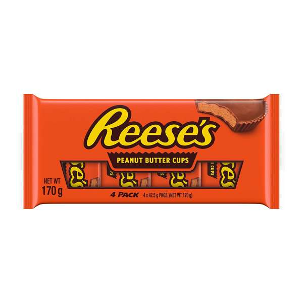 Reeses´s Peanut Butter Cups Multipack, 4 x 42,5g