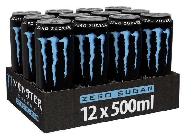 Monster Absolute Zero, 12 x 500ml