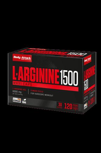 Body Attack L-Arginine 1500, 120 Maxi Cap