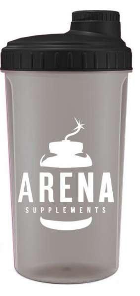 Arena Supplements Protein Shaker Schwarz, 700ml