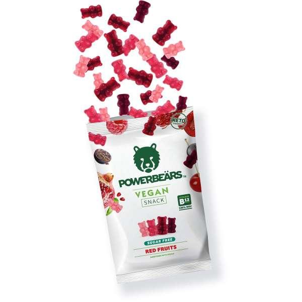 Powerbeärs Vegan Früchte Zuckerfrei, 50g