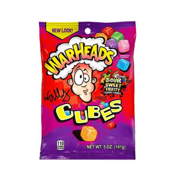 Impact Confections Warheads Sour Chewy Cubes, 141g