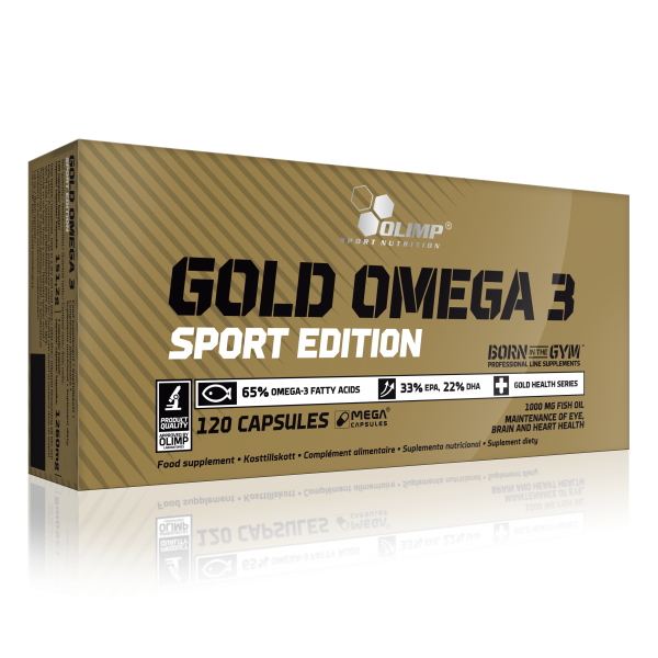 Olimp Gold Omega 3 Sports Edition, 120 Kapseln