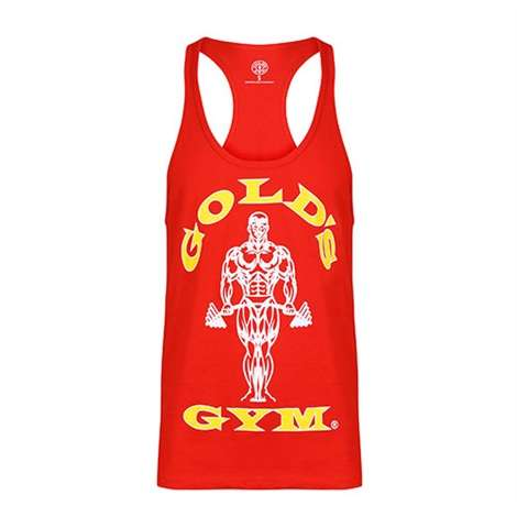 Golds Gym Classic Stringer Tank Top Red