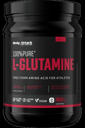 Body Attack 100% L-Glutamine, 400g