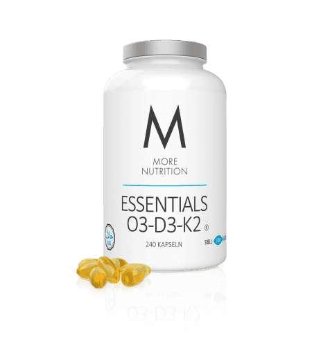 More Nutrition Essentials O3-D3-K2, 240 Fish Gelantin Kapseln