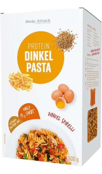 Body Attack Protein Dinkel Pasta Spirelli, 500g