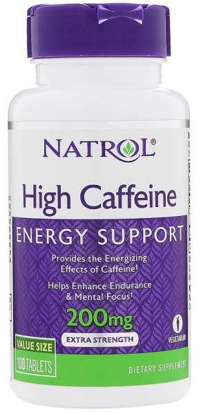 Natrol High Caffeine, 100 Tabletten